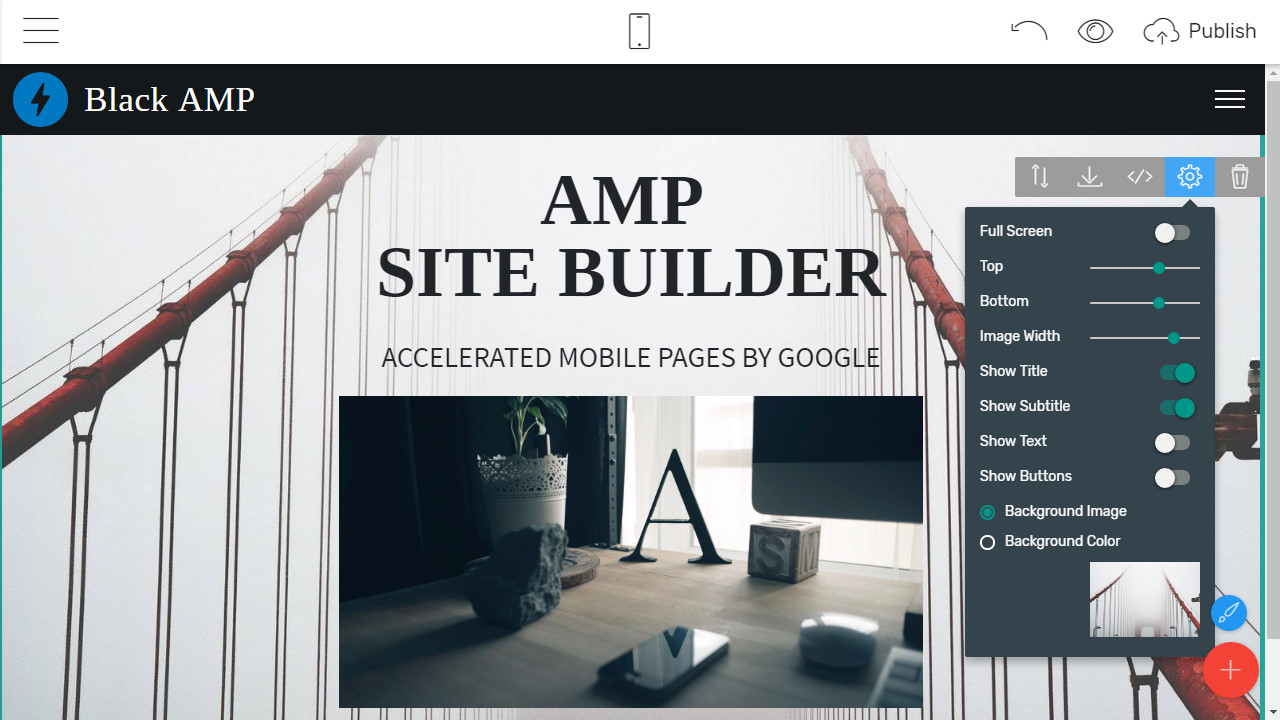 Mobile Site Creator