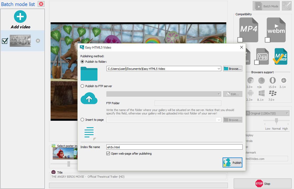 Free HTML5 Video Generator
