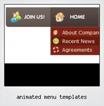 Animated Menu Templates