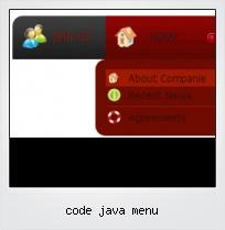 Code Java Menu