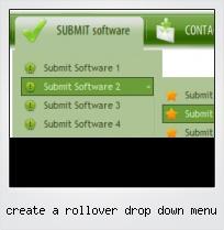 Create A Rollover Drop Down Menu