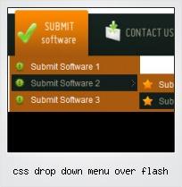 Css Drop Down Menu Over Flash