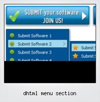 Dhtml Menu Section