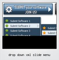 Drop Down Xml Slide Menu