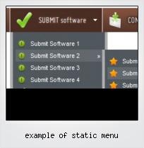 Example Of Static Menu