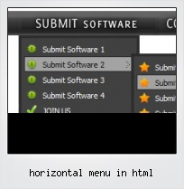 Horizontal Menu In Html