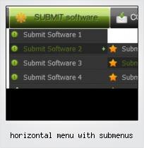Horizontal Menu With Submenus