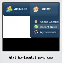 Html Horizontal Menu Css