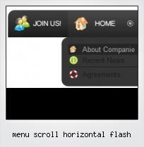 Menu Scroll Horizontal Flash
