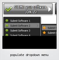 Populate Dropdown Menu
