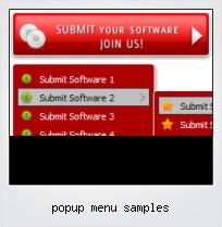 Popup Menu Samples