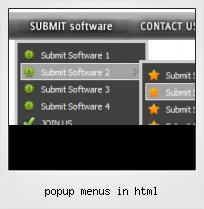 Popup Menus In Html