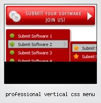 Professional Vertical Css Menu