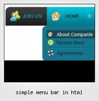 Simple Menu Bar In Html