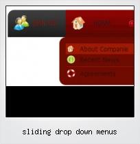Sliding Drop Down Menus